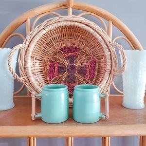 Teal mug set